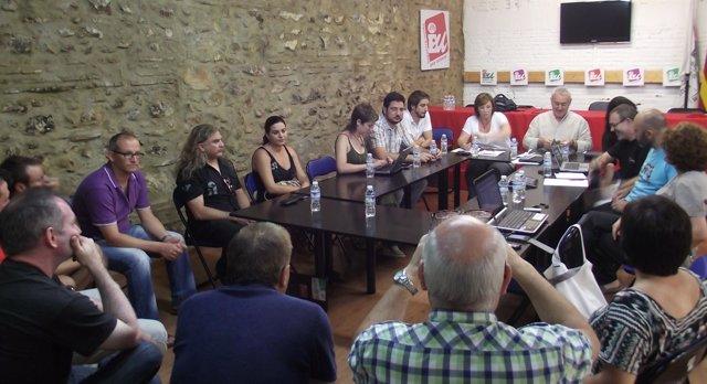 Reunión De Cayo Lara Con Dirigentes De EUPV