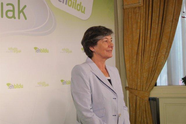 La candidata a lehendakari de EH Bildu, Laura MIntegi