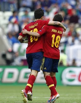 Cesc Fabregas Jordi Alba Selección Española