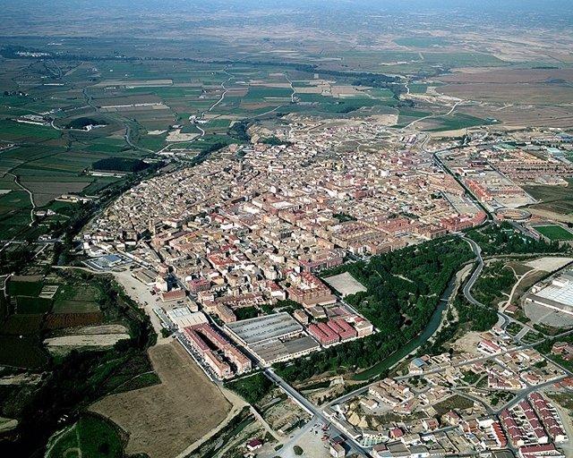 Vista Aérea De Ejea De Los Caballeros (Zaragoza)