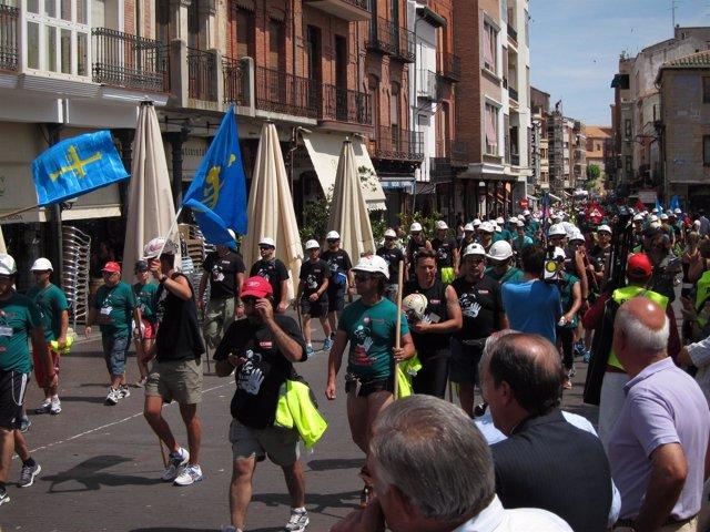 Los mineros llegan a la plaza Mayor de Medina del Campo