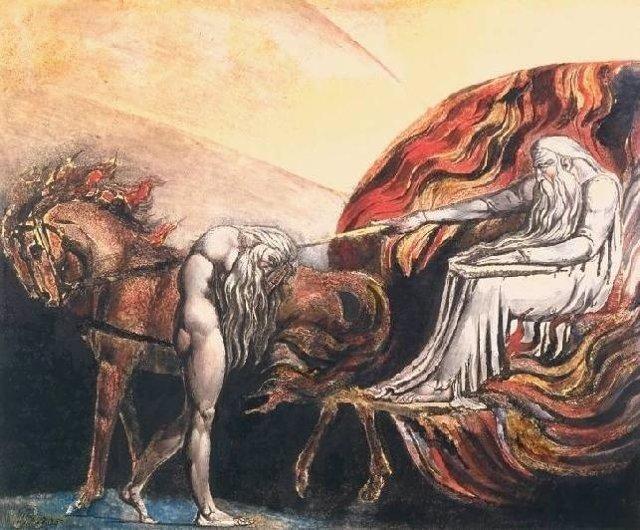 Dios juzga a Adán', de William Blake