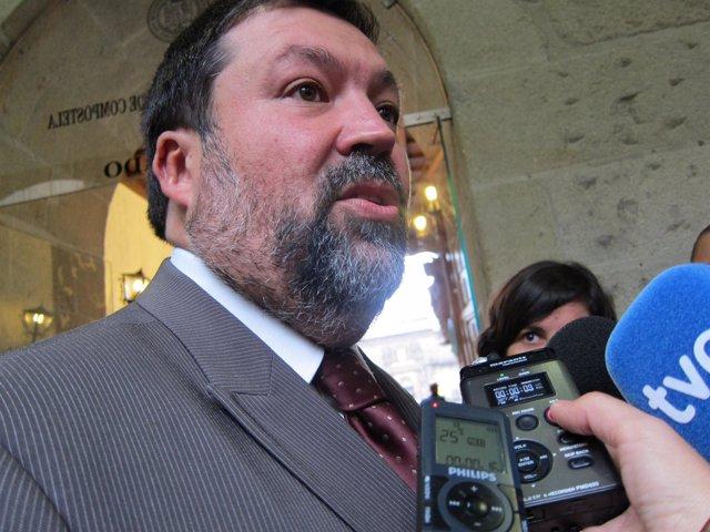 El exministro De Justicia, Francisco Caamaño, En Santiago.
