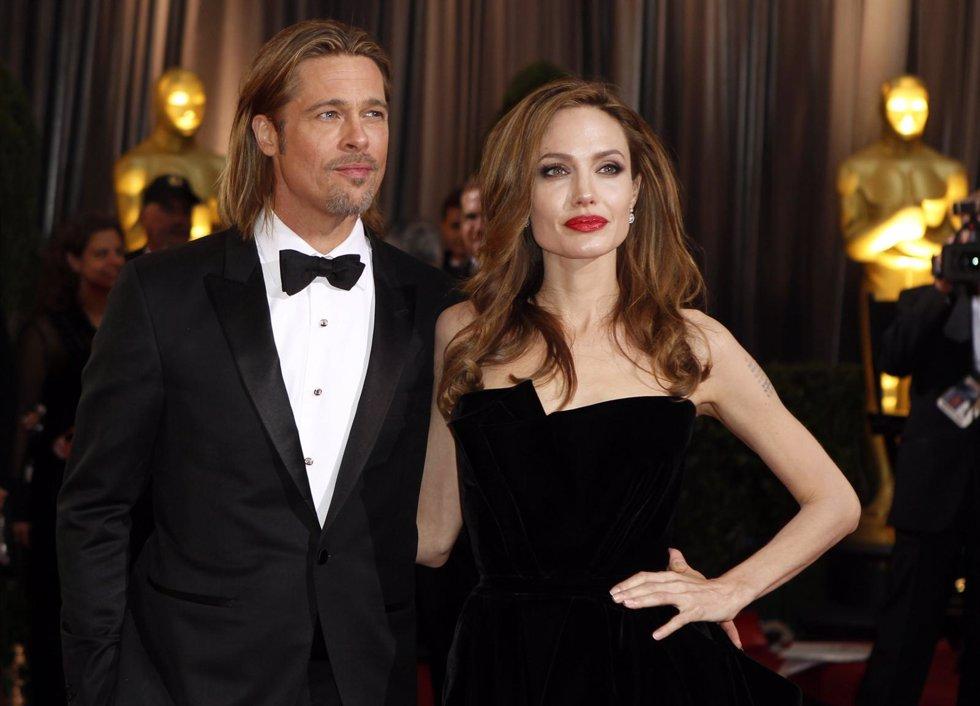 Brad Pitt Y Angelina Jolie En Los Oscar De 2012