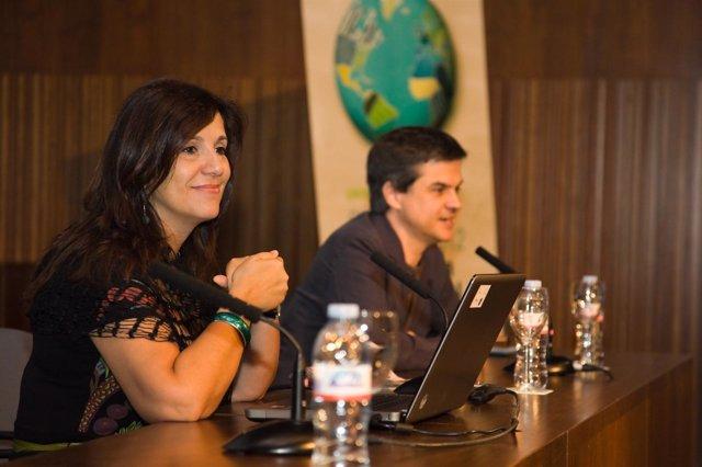Carmen Ramirez, profesora de la Universidad de Málaga durante su ponencia