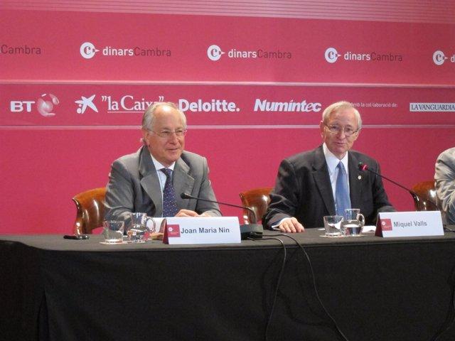 Joan Maria Nin (CaixaBank) y Miquel Valls (Cámara de Barcelona)
