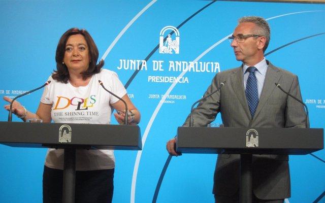 La consejera de Educación y el portavoz del Gobierno andaluz
