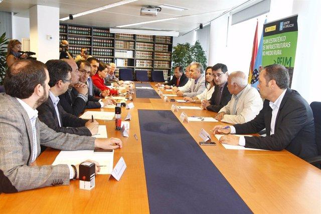 Firma convenio  Montes con alcaldes en Vigo