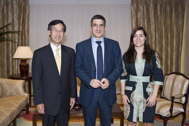El Embajador De Japón Y El Lehendakari.