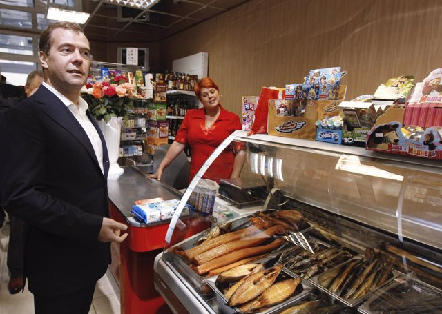 Dimitri Medvedev visita las islas Kuriles