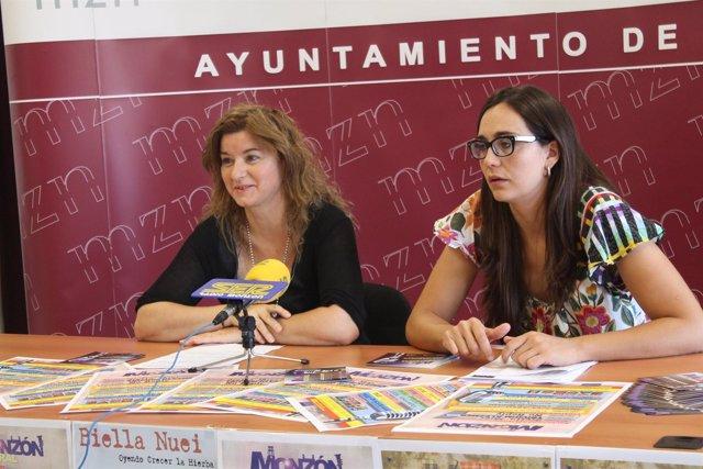 La concejal de Cultura, Marisa Mur y la técnico del departamento, Elena Franco