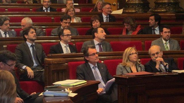 Pleno Del Parlament, Con Artur Mas