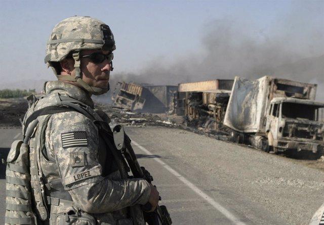 Convoy Atacado En Afganistán