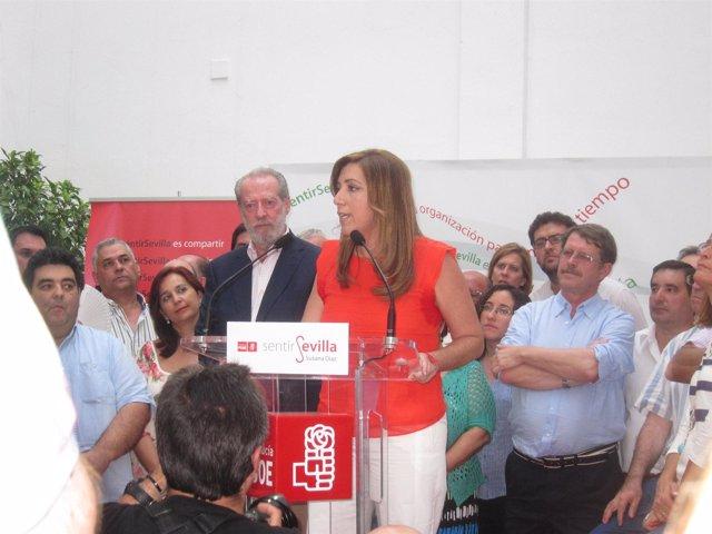 Susana Díaz en su presentación.