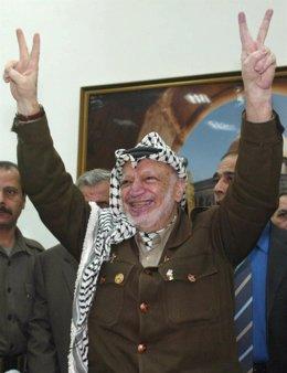 El fallecido líder palestino Yasir Arafat