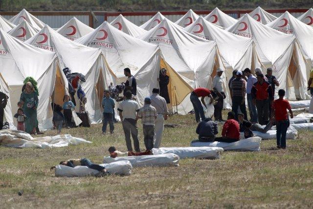 Campo De Refugiados Sirios En Turquía