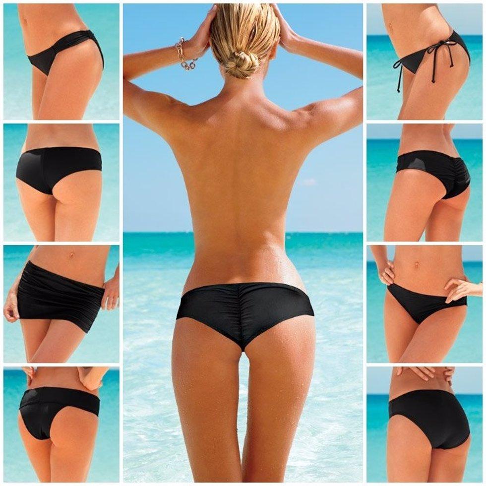 Modelo luce distintos tipos de bikinis de Victoria's Secret