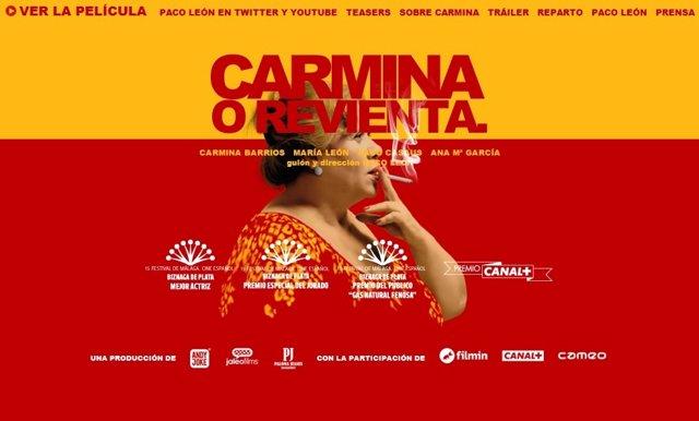 Cartel de la película Carmina o revienta de Paco León