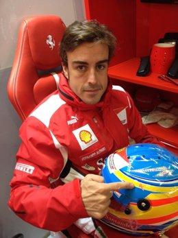 Fernando Alonso estrella María de Villota GP Gran Bretaña