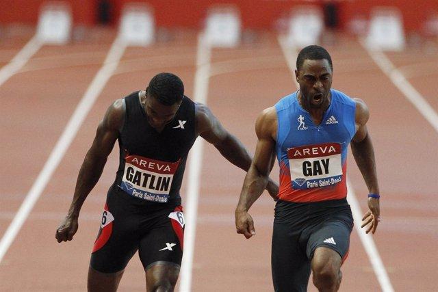Tyson Gay se impone a Gatlin en los 100 metros de París