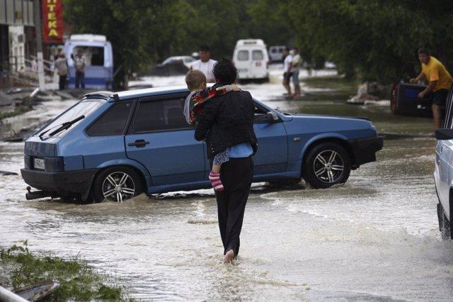 Lluvias en Rusia