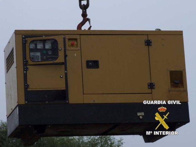 Generador robado en Zaragoza y recuperado en Cantabria