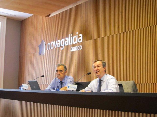 El presidente y el consejero delegado de NCG, J.M. Castellano y C.González-Bueno