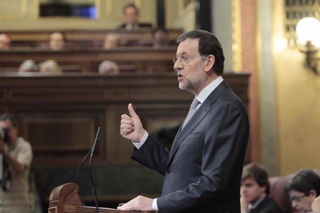 Mariano Rajoy habla en el congreso de los Diputados