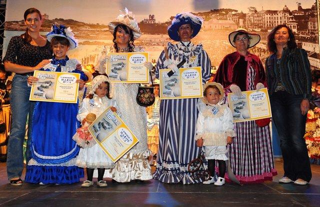 Entrega de premios del concurso de trajes de época