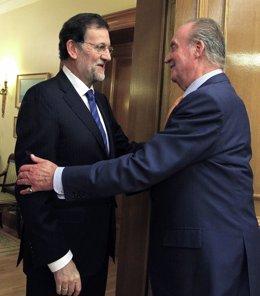 El Rey Recibe A Mariano Rajoy En Zarzuela