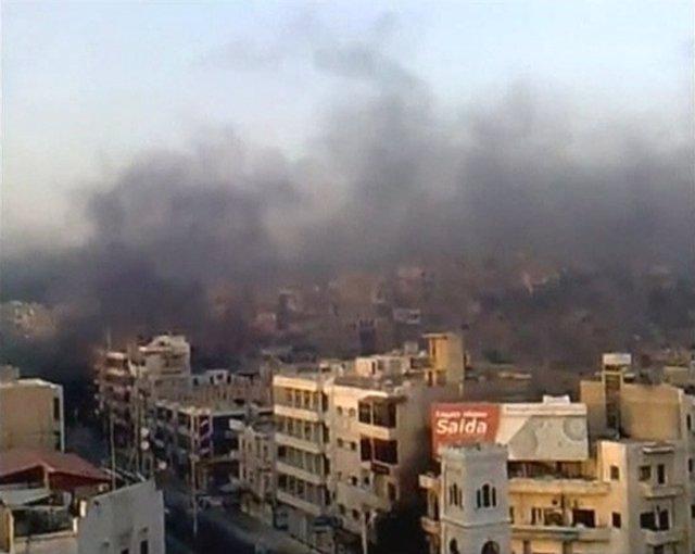 Bombardeos Sobre La Ciudad Siria De Hama