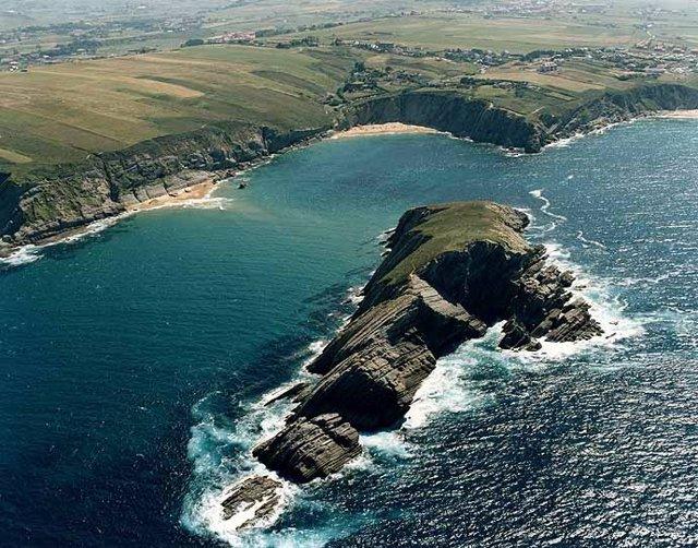 Playa de Covachos, en Cantabria