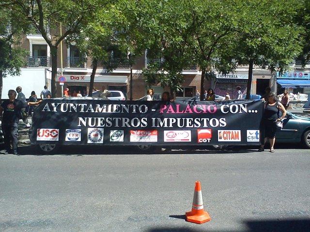 Protesta Empleados Municipales