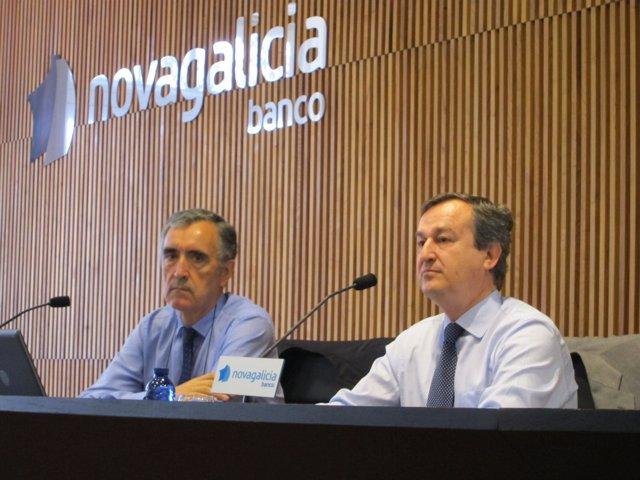 Castellano, a la izquierda, con el consejero delegado de NCG
