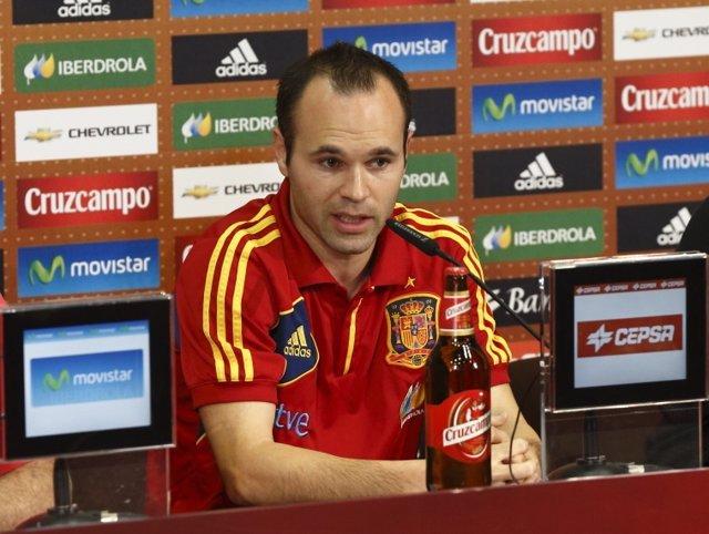 Andres Iniesta Rueda De Prensa Selección