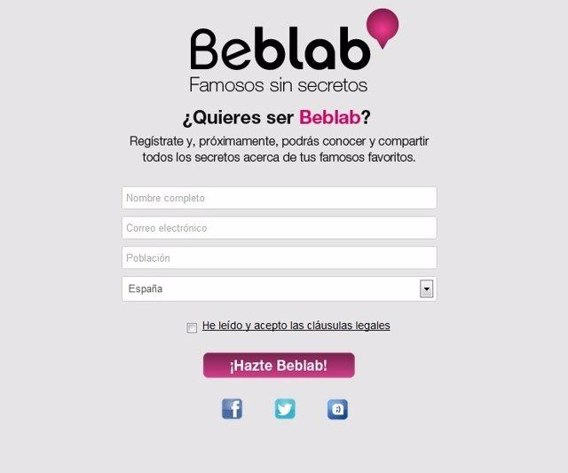 Red social para rastrear famosos Beblab