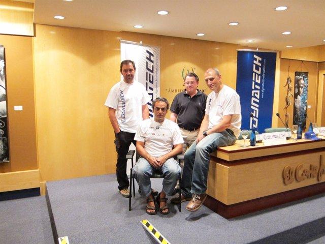 Carlos Pauner, Raúl Martínez y Francisco Lorente este viernes en Zaragoza