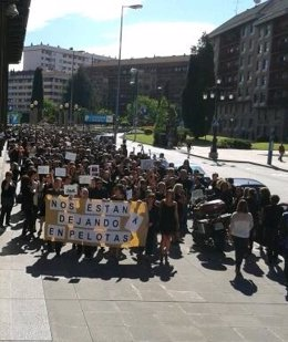 Fuincionarios Protestan Contra Los Recortes De Rajoy