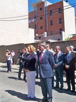La presidenta, Luisa Fernanda Rudi, y el alcalde, Juan Alberto Belloch