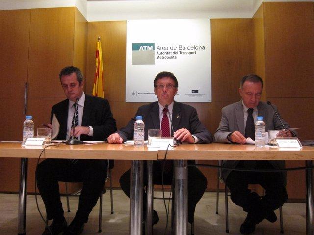 Joaquim Forn, El Conseller Lluís Recoder Y Antoni Poveda