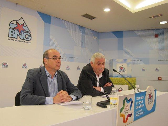 Guillerme Vázquez y Francisco Jorquera, en rueda de prensa, BNG