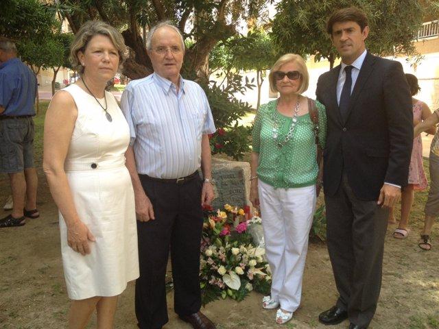 Los padres de Miguel Ángel Blanco (izq. De la imagen), junto a Verdú y Juan de D