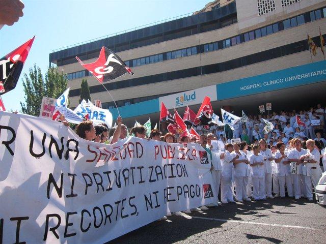 Protesta contra recortes en sanidad