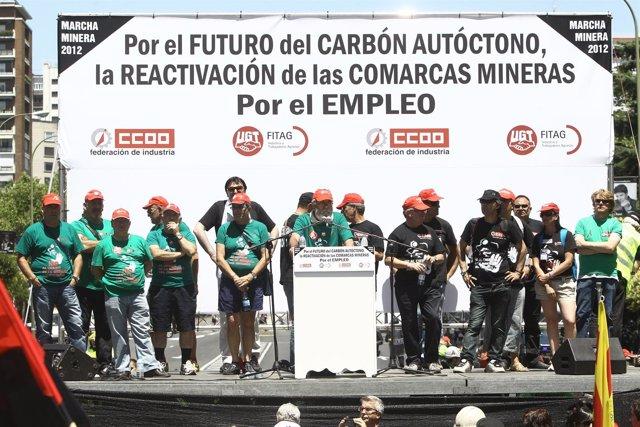 Fin de la manifestación a favor de los mineros en Madrid