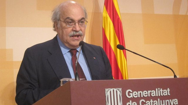 Andreu Mas-Colell, En Rueda De Prensa Tras El Consell Executiu