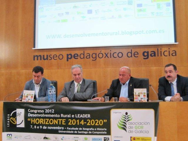 El presidente de la Asociación de GDR de Galicia en la presentación del congreso