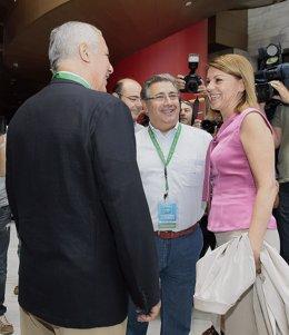 Arenas, Zoido y Cospedal antes del Congreso del PP-A
