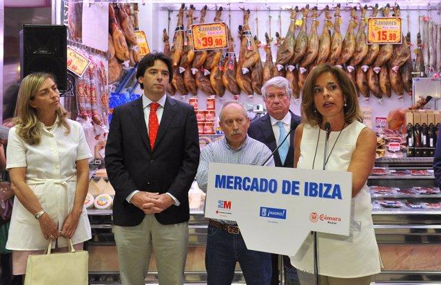 Ana Botella, Arturo Fernández y Percival Manglano