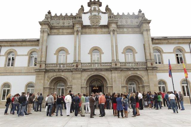 Concentración de empleados públicos en la Diputación de Lugo