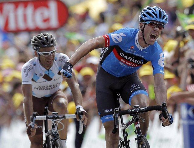David Millar gana la etapa 12 del Tour de 2012